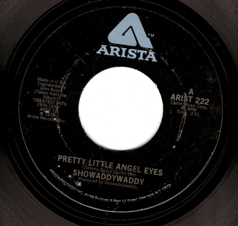SHOWADDYWADDY Pretty Little Angel Eyes Vinyl Record 7 Inch US Arista 1978